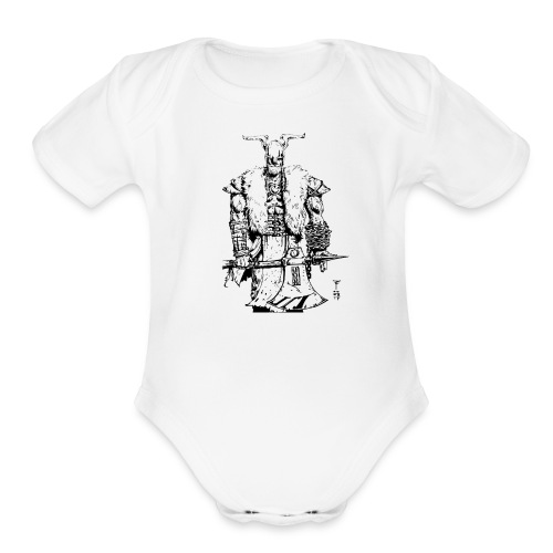 Viking warrior - Organic Short Sleeve Baby Bodysuit