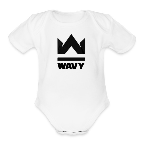 Too Wavy - Organic Short Sleeve Baby Bodysuit