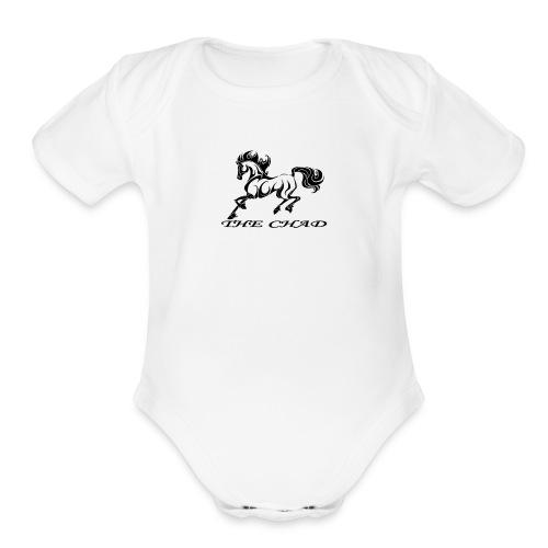 The Chad Logo - Organic Short Sleeve Baby Bodysuit