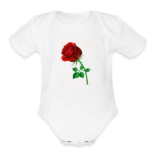 0A1FC5E8 E9DF 4747 9B30 BFFA2CEB33C9 - Organic Short Sleeve Baby Bodysuit