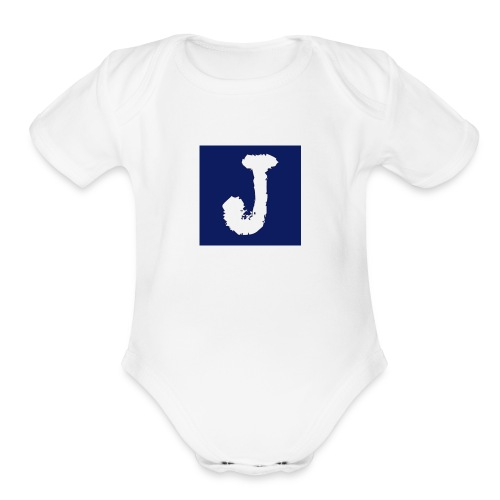 j logo big - Organic Short Sleeve Baby Bodysuit