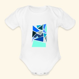 Funky Triangles - Short Sleeve Baby Bodysuit