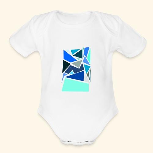 Funky Triangles - Organic Short Sleeve Baby Bodysuit