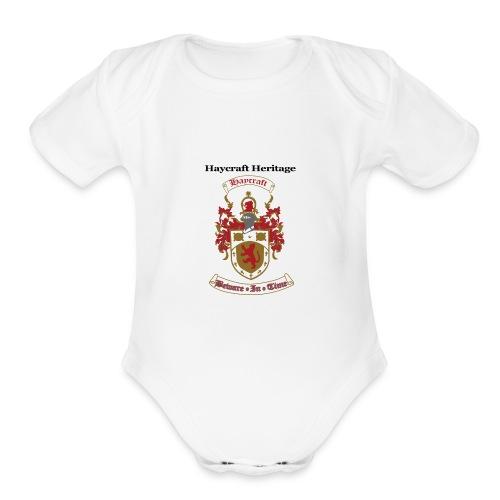 haycraftcrest - Organic Short Sleeve Baby Bodysuit