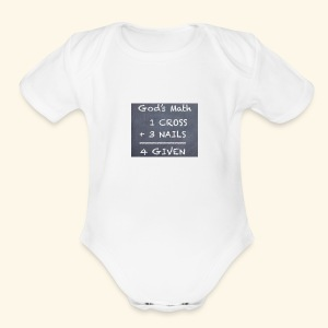 1 cross - Short Sleeve Baby Bodysuit