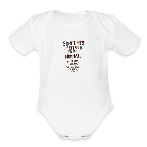 lols - Organic Short Sleeve Baby Bodysuit