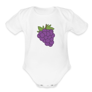 Grapies - Short Sleeve Baby Bodysuit