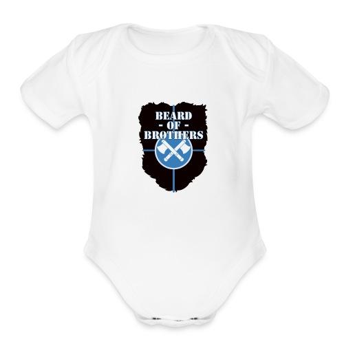 Beard Of Brothers - Organic Short Sleeve Baby Bodysuit