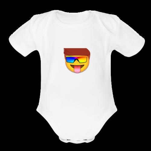 whats up - Organic Short Sleeve Baby Bodysuit