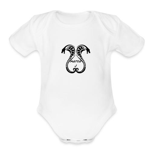 Mateo J Snake design - Organic Short Sleeve Baby Bodysuit