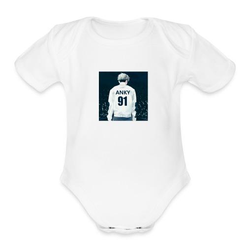 IMG 1552 - Organic Short Sleeve Baby Bodysuit