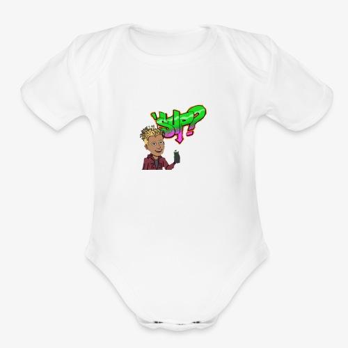 Sup - Organic Short Sleeve Baby Bodysuit