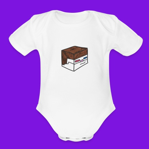Yakmage Head T-Shirt - Organic Short Sleeve Baby Bodysuit