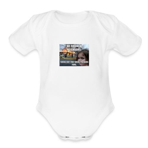 Bears fans - Organic Short Sleeve Baby Bodysuit