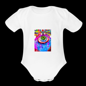 Fountain of Perception - Short Sleeve Baby Bodysuit