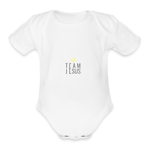 TEAM JESUS3 - Organic Short Sleeve Baby Bodysuit