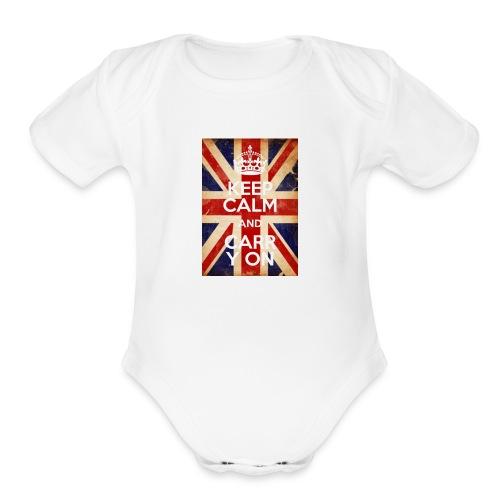 Keep Calm Generator 1508700308451 - Organic Short Sleeve Baby Bodysuit
