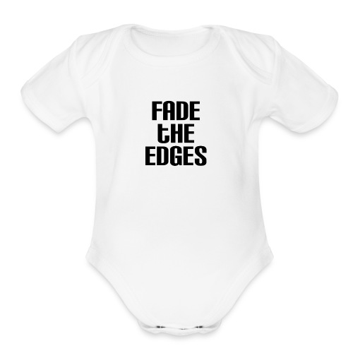 Fade the Edges - Organic Short Sleeve Baby Bodysuit