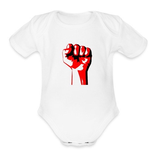 REEVVOLT fist MERCH - Organic Short Sleeve Baby Bodysuit