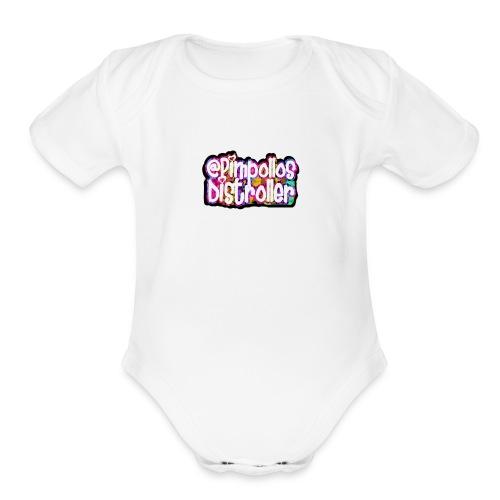 Pimpollos distroller official logo - Organic Short Sleeve Baby Bodysuit