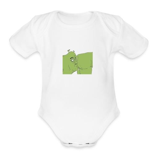 Shrek Ass Eating - Organic Short Sleeve Baby Bodysuit
