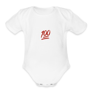 100 flawless - Short Sleeve Baby Bodysuit