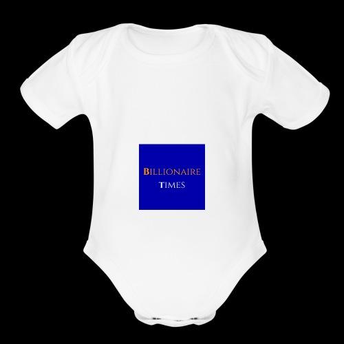 Billionaire Times - Organic Short Sleeve Baby Bodysuit