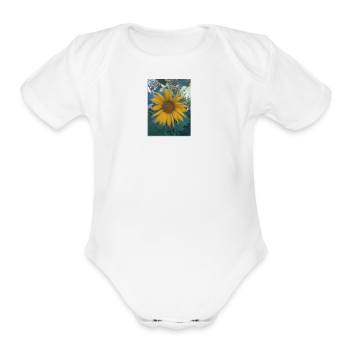 Sun Flower Love - Organic Short Sleeve Baby Bodysuit