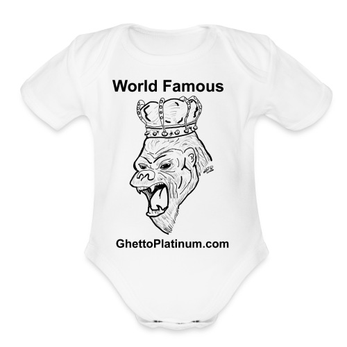 T-shirt-worldfamousForilla2tight - Organic Short Sleeve Baby Bodysuit