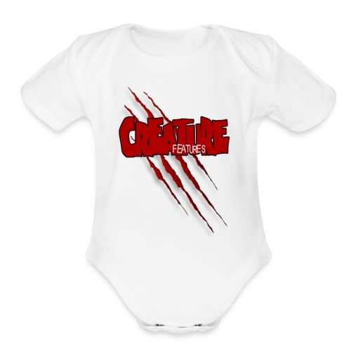 Creature Features Slash T - Organic Short Sleeve Baby Bodysuit