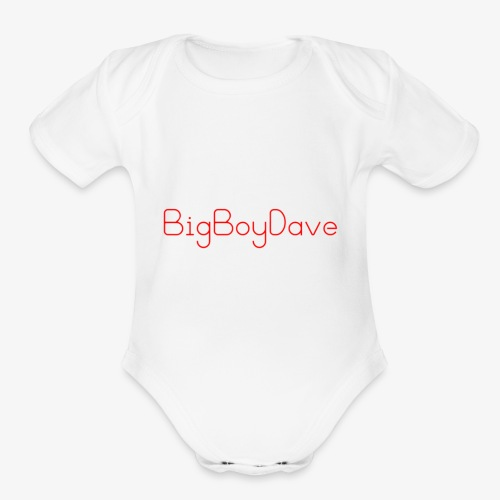 bigboy dave - Organic Short Sleeve Baby Bodysuit