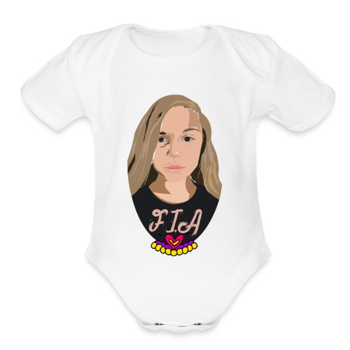 Sophia logo - Organic Short Sleeve Baby Bodysuit