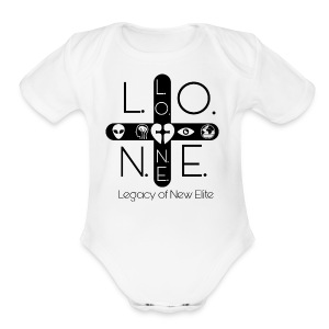 L.O.N.E (LEGACY OF NEW ELITE) - Short Sleeve Baby Bodysuit