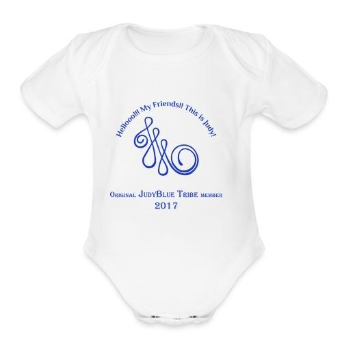 Original Member JudyBlue Tribe 2017 (blue logo) - Organic Short Sleeve Baby Bodysuit
