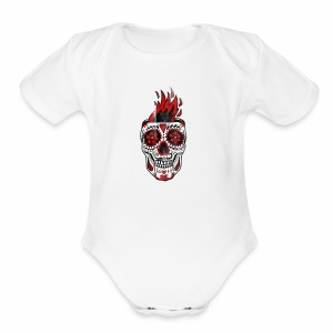 SKULL - Short Sleeve Baby Bodysuit