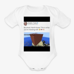 North Korea Dosent know how ther messin whit - Short Sleeve Baby Bodysuit