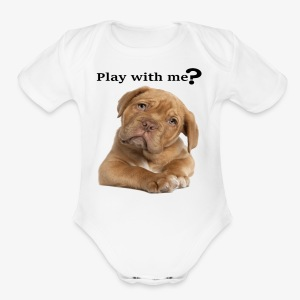 Play with me ? T-shirt cute - Short Sleeve Baby Bodysuit