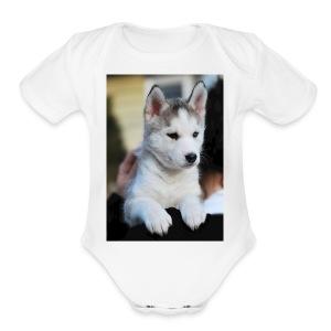 Dog - Short Sleeve Baby Bodysuit