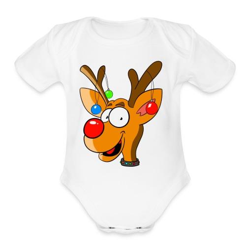 Rudolph - Organic Short Sleeve Baby Bodysuit