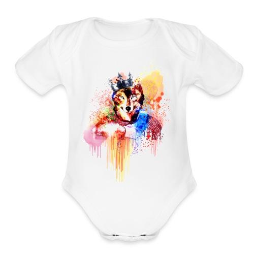 Sir Wolf - Organic Short Sleeve Baby Bodysuit