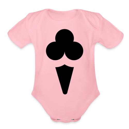 Ice cream - Organic Short Sleeve Baby Bodysuit