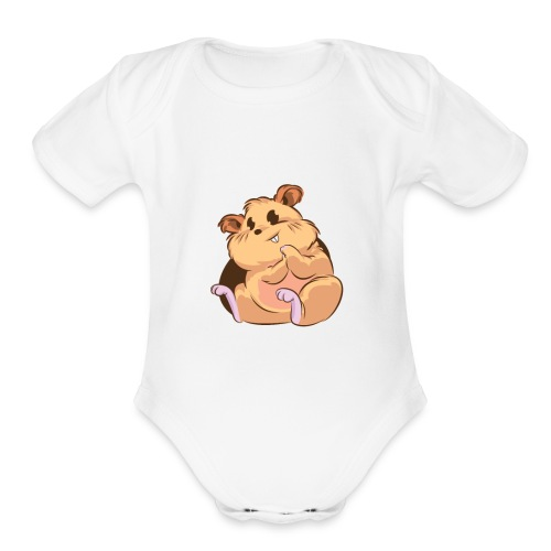 Chappy the Hamster - Organic Short Sleeve Baby Bodysuit