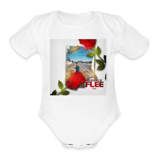 THA REVENGE OF FLEE951506362451409 - Organic Short Sleeve Baby Bodysuit