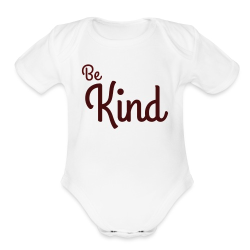 Be Kind White Range - Organic Short Sleeve Baby Bodysuit
