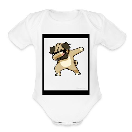 Dab Dog 2018 - Organic Short Sleeve Baby Bodysuit