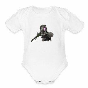 Whiskers with No Land - Short Sleeve Baby Bodysuit