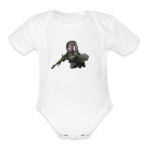 Whiskers with No Land - Organic Short Sleeve Baby Bodysuit
