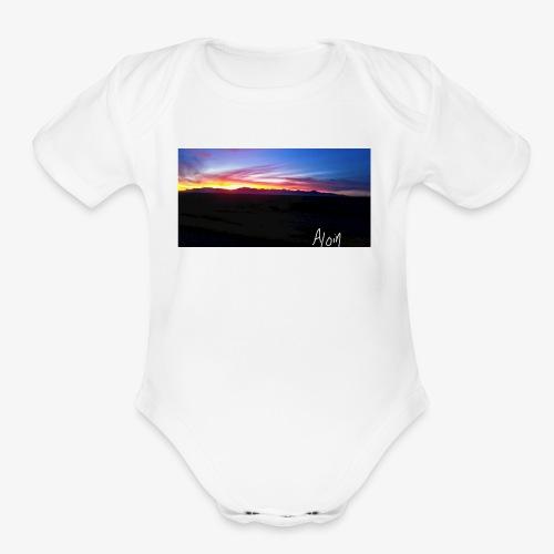 Aloin - Organic Short Sleeve Baby Bodysuit