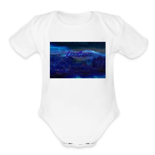LapisCraft Large Logo - Organic Short Sleeve Baby Bodysuit