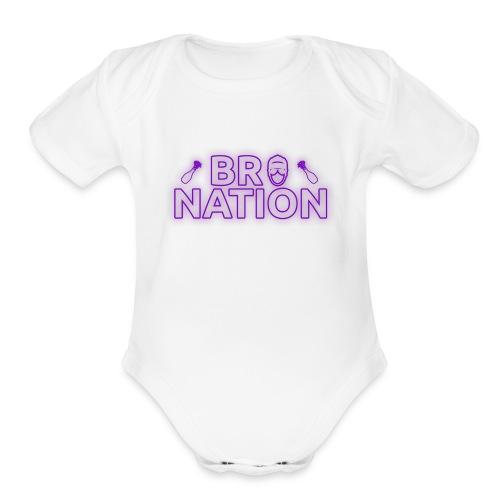 bronationlogo - Organic Short Sleeve Baby Bodysuit